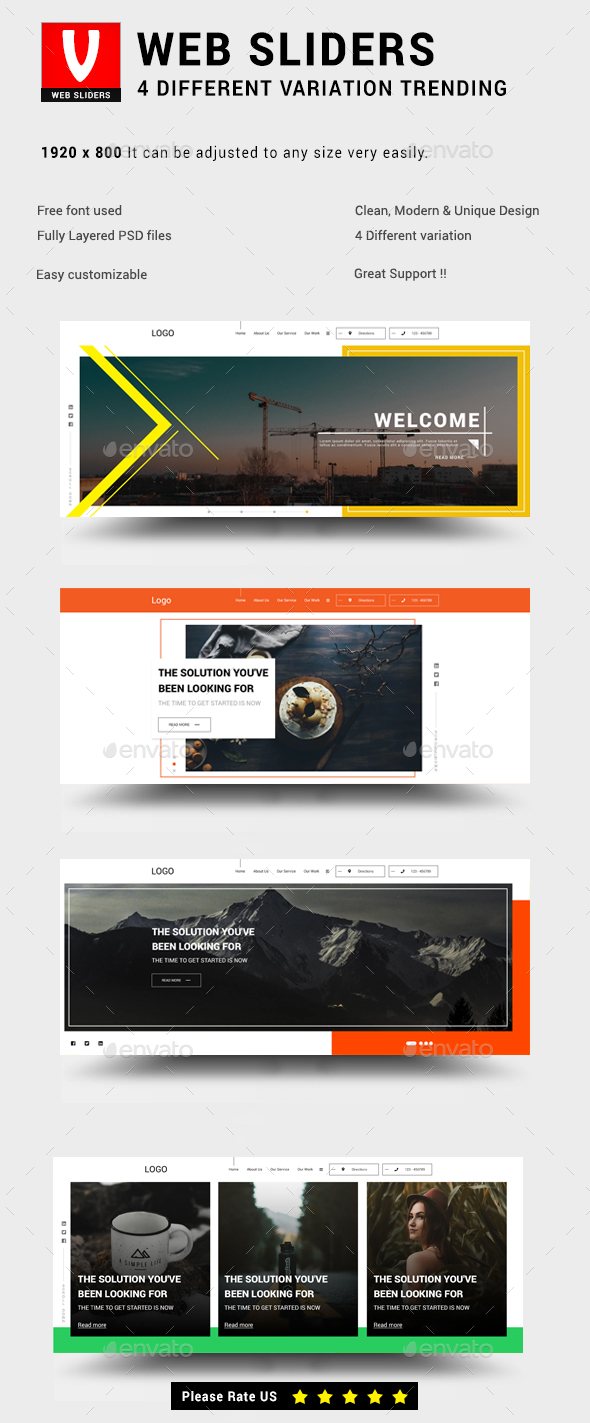Web Sliders - Trending - Sliders & Features Web Elements