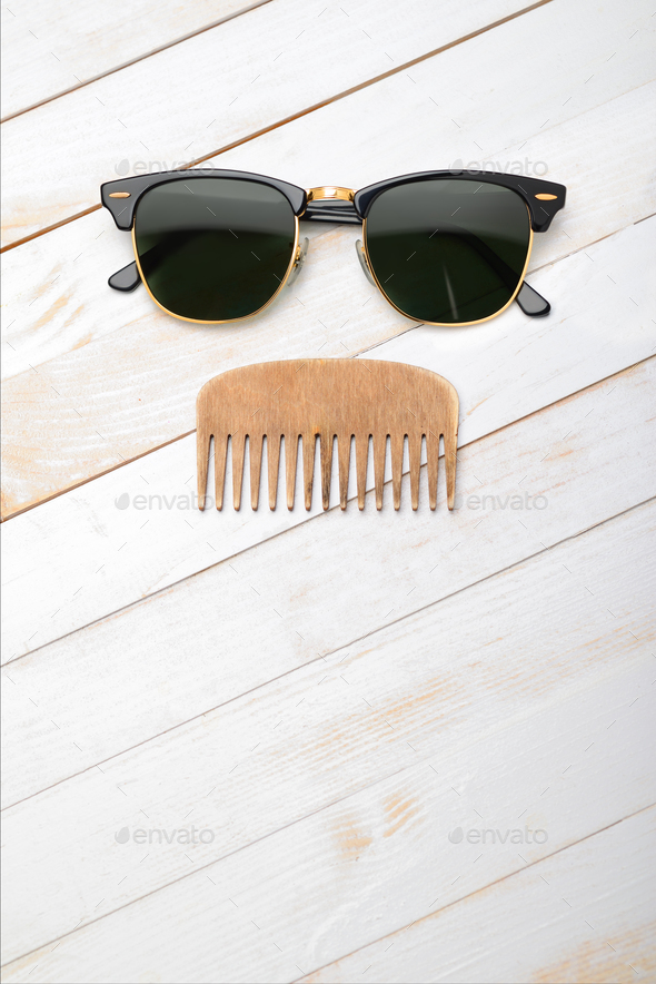 Comb and sunglasses - Stock Photo - Images