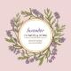 Lavender Vector  Frame - GraphicRiver Item for Sale