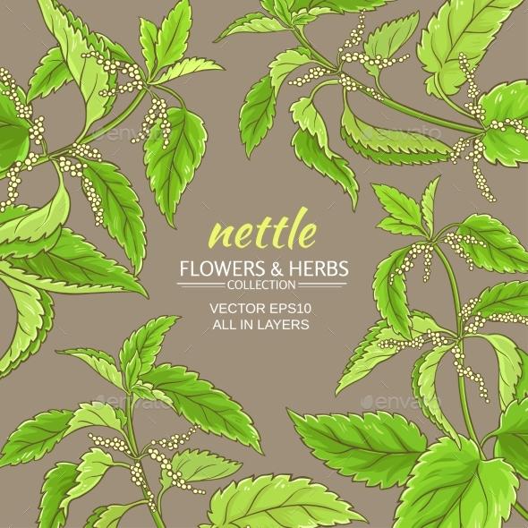 Nettle Vector Frame - Health/Medicine Conceptual