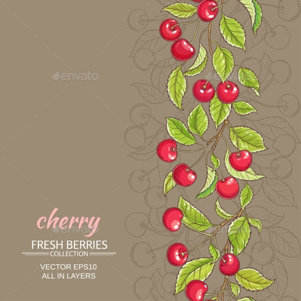 Cherry Vector Background - Food Objects