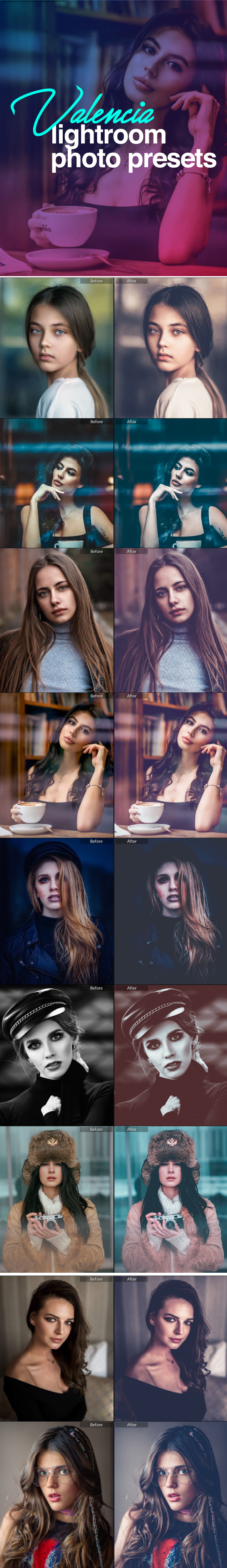 Valencia Lightroom Presets - Vintage Lightroom Presets