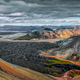 Colorful volcanic landscape with lava flow in Landmannalaugar, Iceland, Europe - PhotoDune Item for Sale