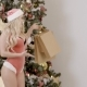 Portrait of Sexy Female Sants, Who Is Showing Paper Bag with Presents Near Christmas Tree, . - VideoHive Item for Sale