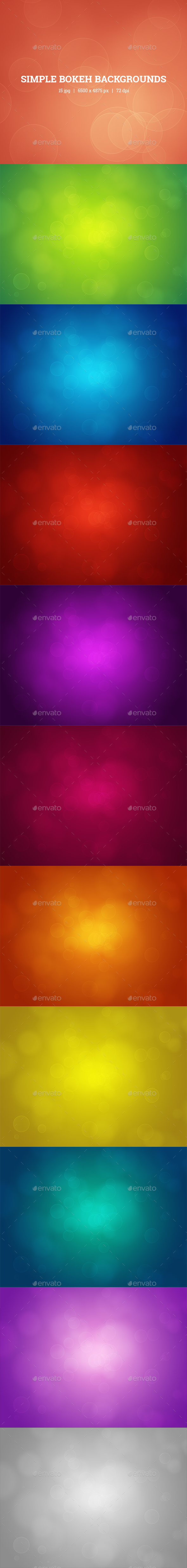 Simple Bokeh Backgrounds - Abstract Backgrounds