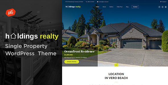 Holdings Realty - Single Property Theme - Real Estate WordPress