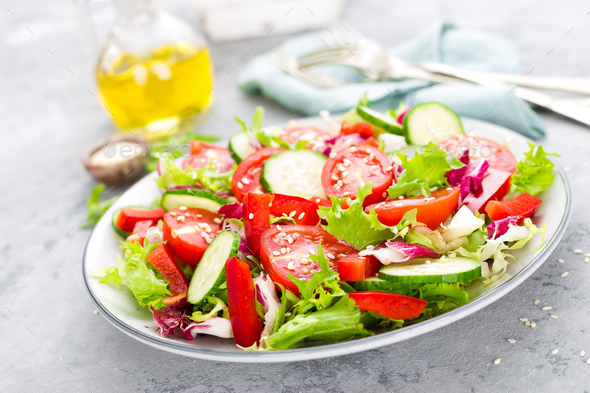 Fresh vegetable salad - Stock Photo - Images