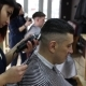 The Hairdresser Makes a Stylish Hairstyle for a Male Client - VideoHive Item for Sale
