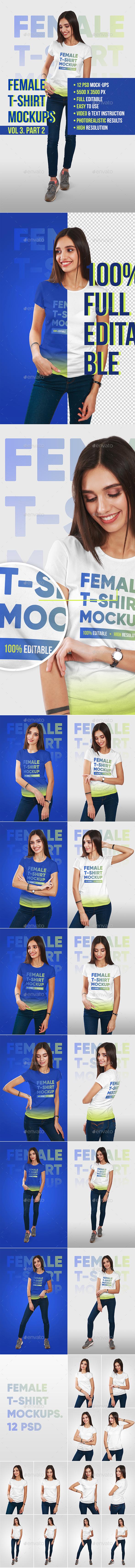 Female T-Shirt Mockups Vol3. Part 2 - T-shirts Apparel