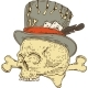Voodoo Skull in Old Hat - GraphicRiver Item for Sale
