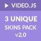 Video.js Unique 3 Skins Pack
