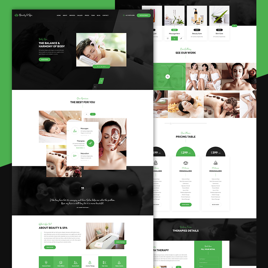 Beauty & Spa | Health Bootstrap HTML Template - 1