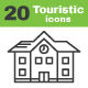 20 Touristic Icons - GraphicRiver Item for Sale