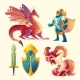 Vector Set of Fantasy Game Design Objects