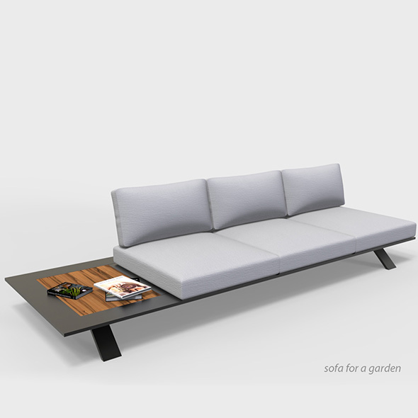 Sofa for a garden - 3DOcean Item for Sale