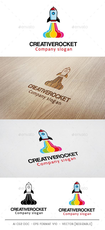 Creative Rocket Logo - Objects Logo Templates