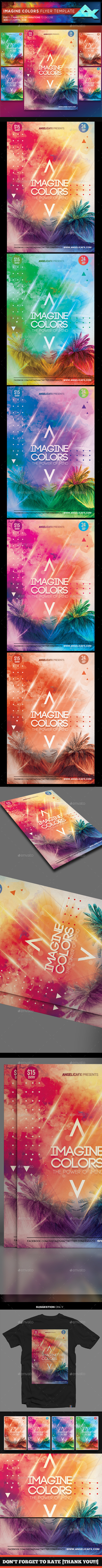 Imagine Colors Flyer Template - Flyers Print Templates