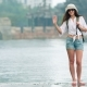 Young Beautiful Stylish Woman Traveling in Asia - VideoHive Item for Sale