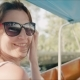Happy Tourist Woman Enjoying Travelling on Boat in Ancient Tropical Village - VideoHive Item for Sale