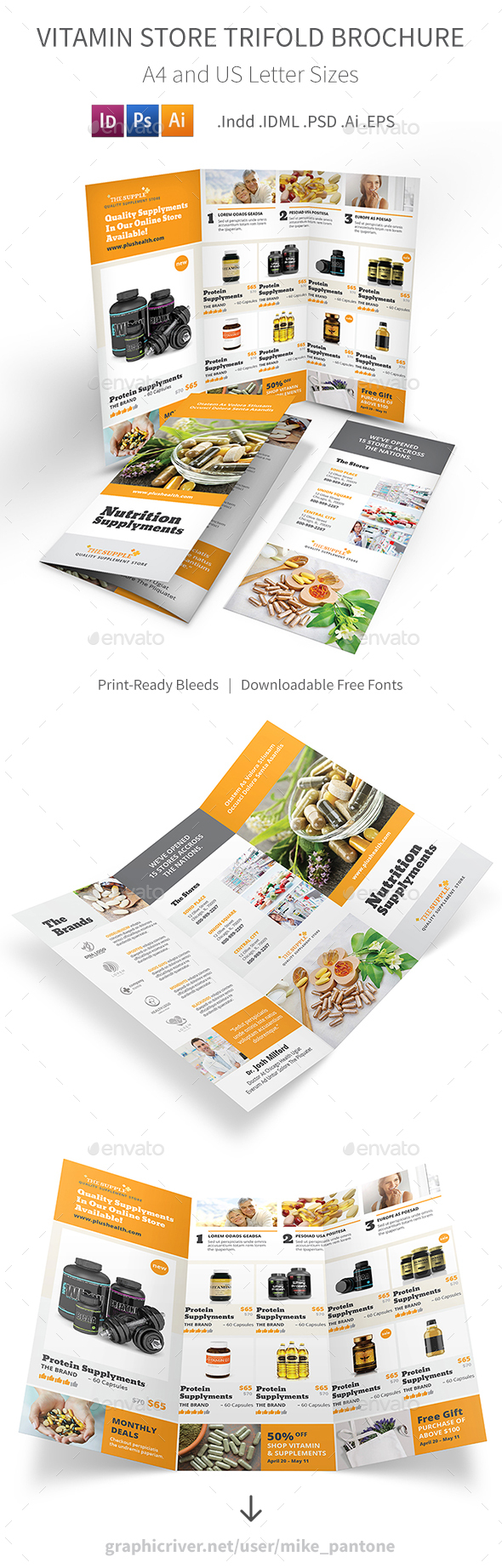 Vitamin Store Trifold Brochure - Informational Brochures