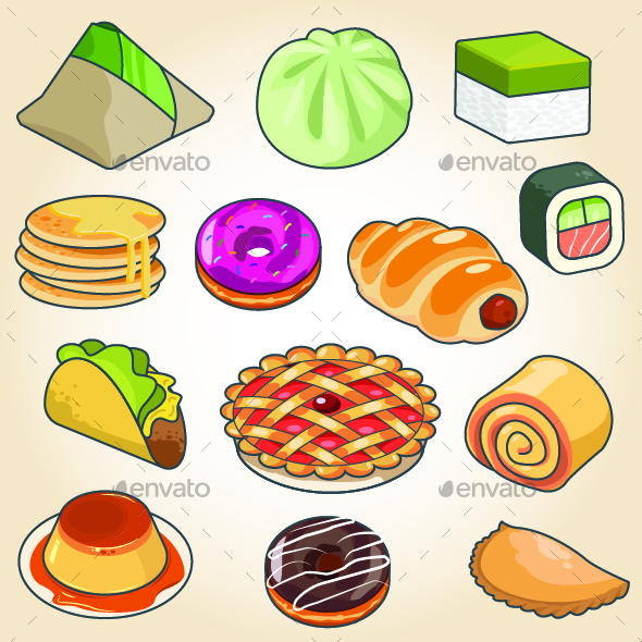 Traditional Food Icons - Food Objects
