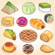 Traditional Food Icons - GraphicRiver Item for Sale
