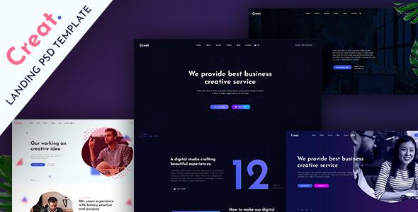 Creat - Creative PSD Template - Business Corporate