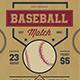 Retro Baseball Match Flyer - GraphicRiver Item for Sale