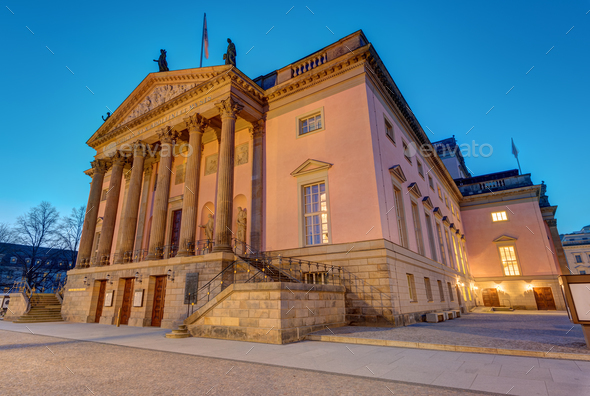 The Berlin State opera at dawn - Stock Photo - Images