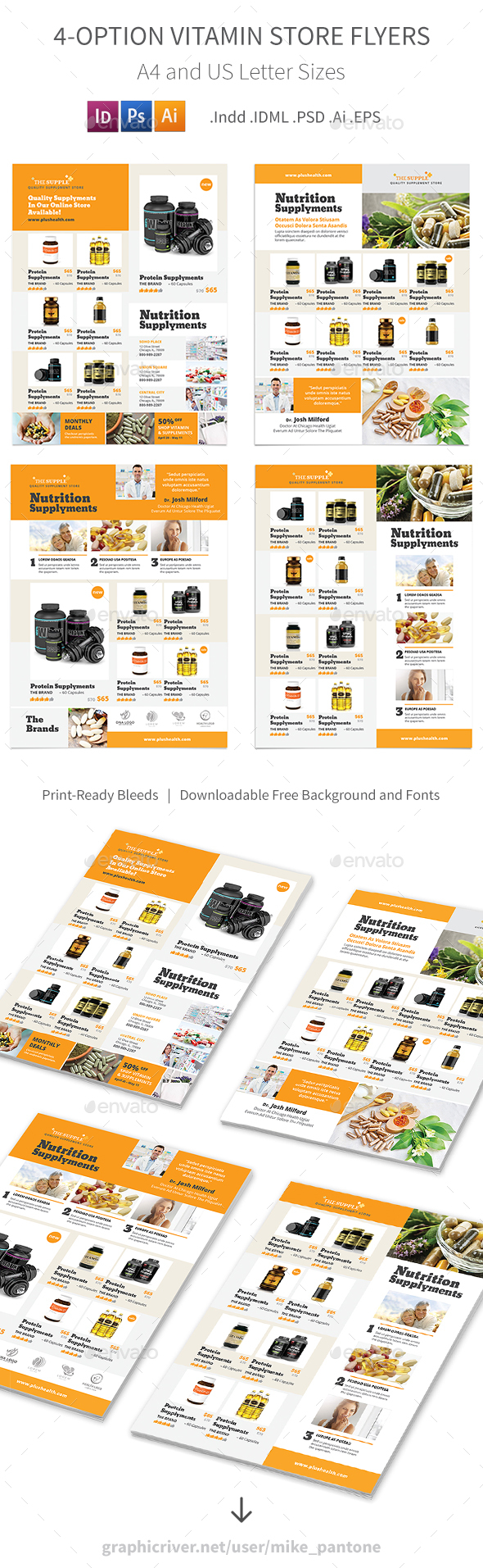 Vitamin Store Flyers – 4 Options - Commerce Flyers