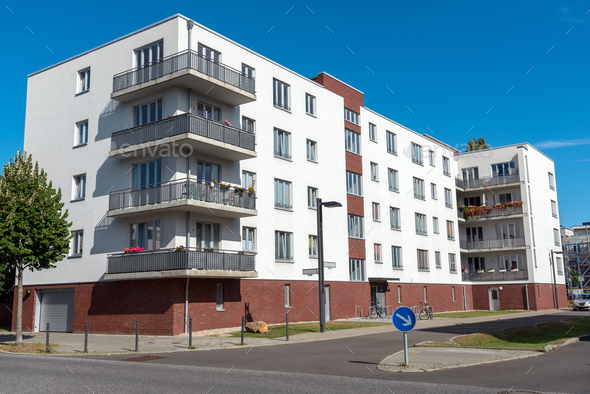 Modern home building in Berlin - Stock Photo - Images