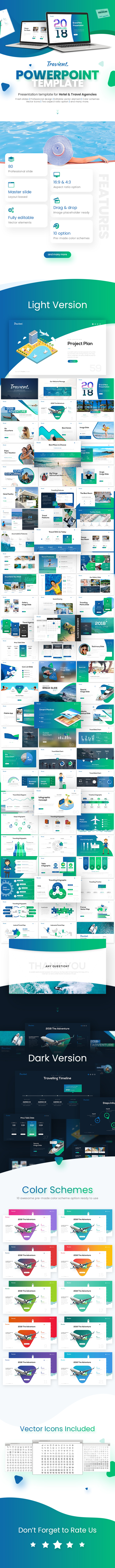 Travient Hotel & Travel Agency PowerPoint Template - PowerPoint Templates Presentation Templates