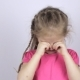 Young Girl in a Pink Shirt Rubbing Her Eyes - VideoHive Item for Sale