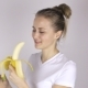 Young Woman with Banana - VideoHive Item for Sale