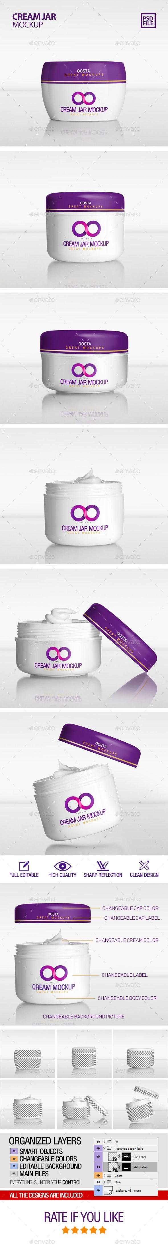 Cream Jar Mockup - Product Mock-Ups Graphics