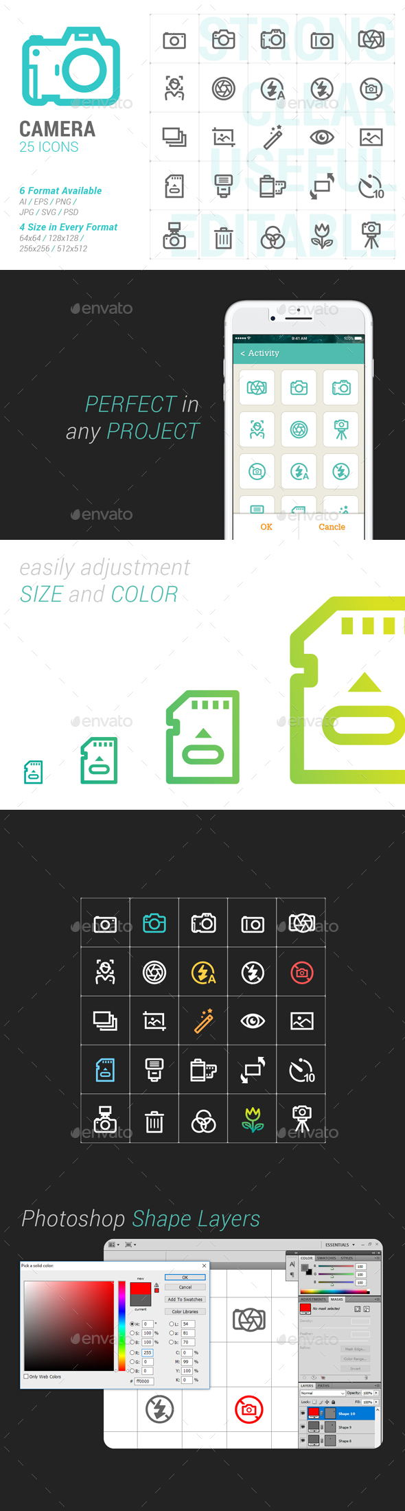 Camera Mini Icon - Objects Icons