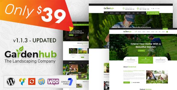 Garden HUB - Gardening, Lawn & Landscaping WordPress Theme - Business Corporate