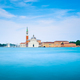 Venice lagoon, San Giorgio church. Italy. Long exposure - PhotoDune Item for Sale