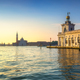 Venice lagoon, San Giorgio church and Punta della Dogana at sunr - PhotoDune Item for Sale