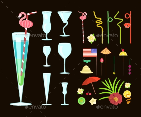 Cocktail Drink Decoration - Food Objects
