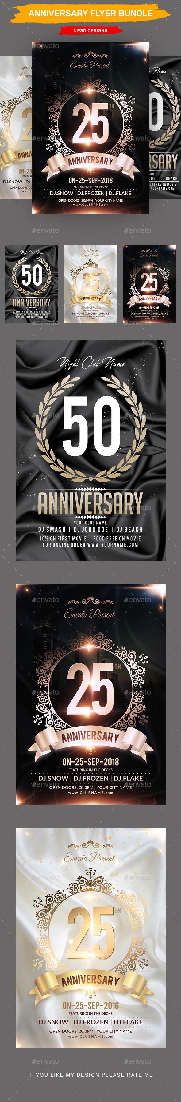 Anniversary Flyer Bundle - Events Flyers