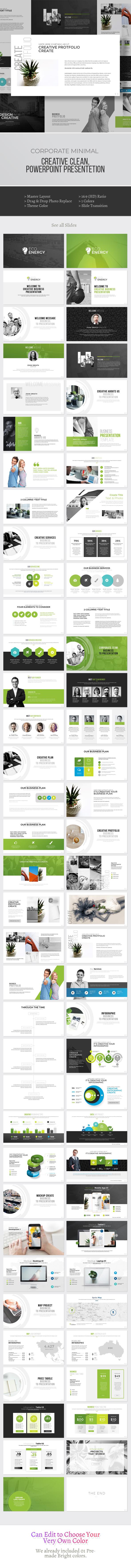 Green Energy - PowerPoint Template - PowerPoint Templates Presentation Templates