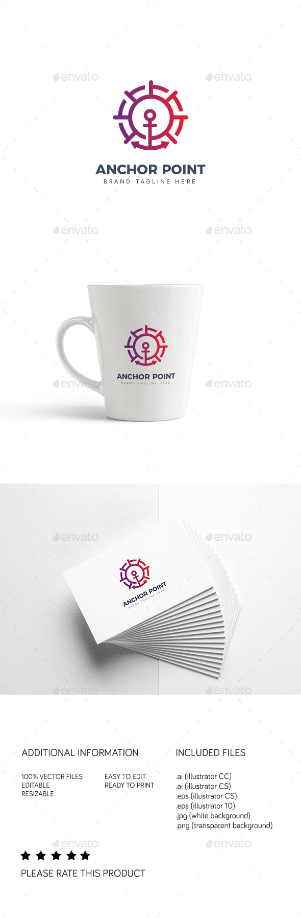 Anchor Point - Objects Logo Templates