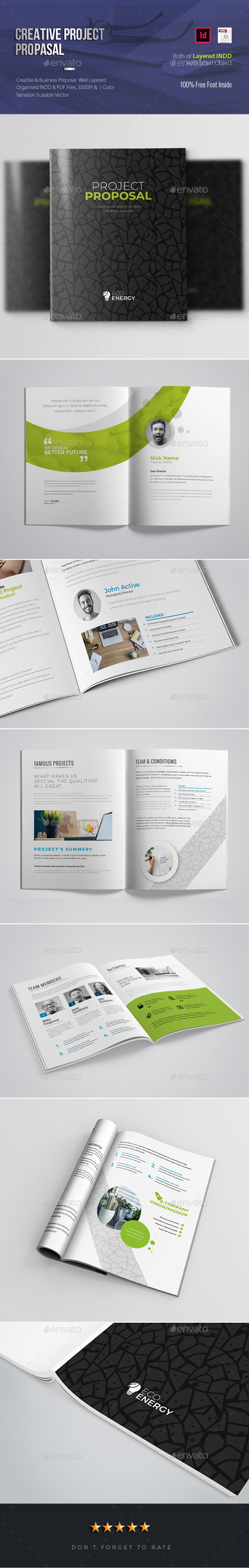 Creative Project Proposal - Proposals & Invoices Stationery
