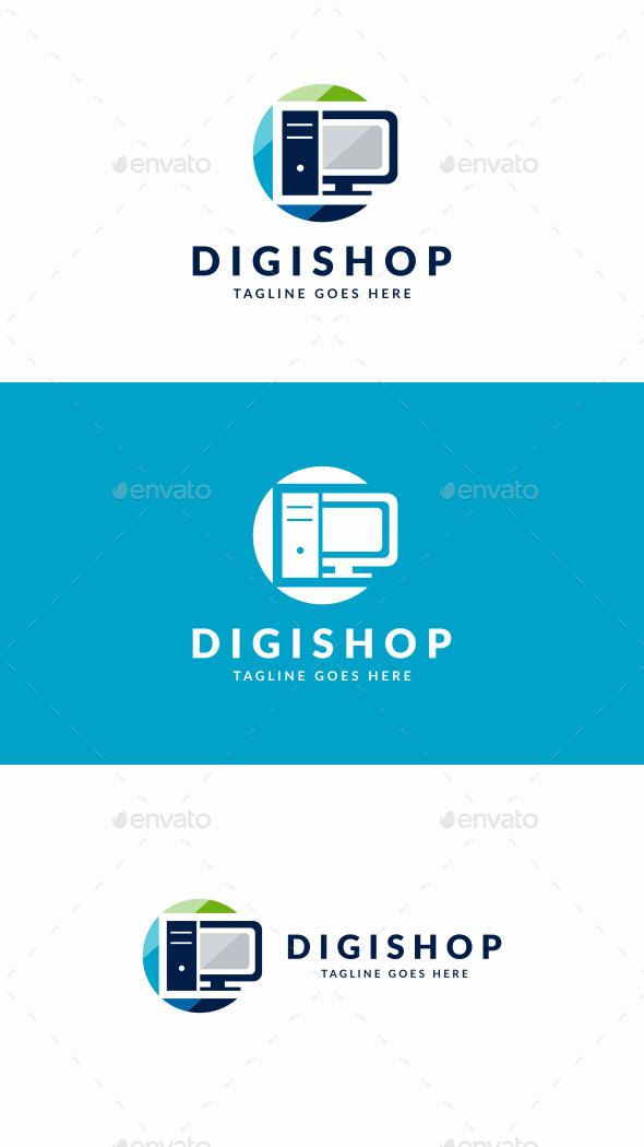 Digital Shop - Objects Logo Templates