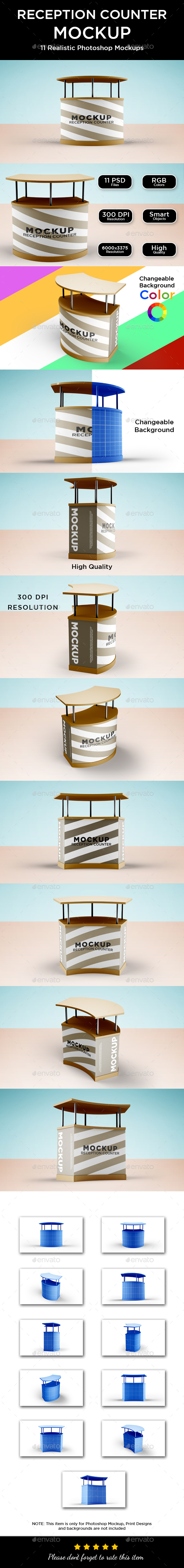 Reception Counter Mockup - Product Mock-Ups Graphics