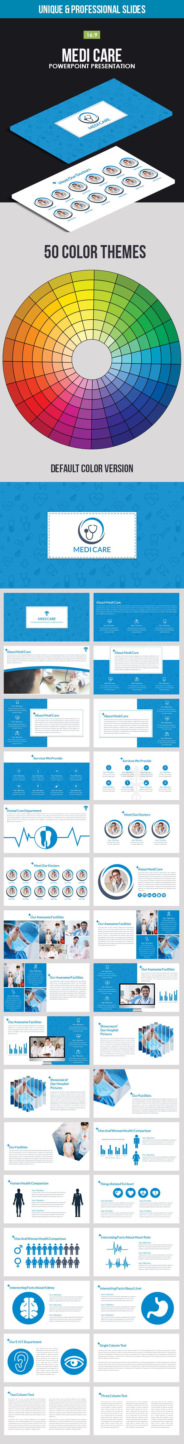 Medi Care Powerpoint Presentation - Business PowerPoint Templates