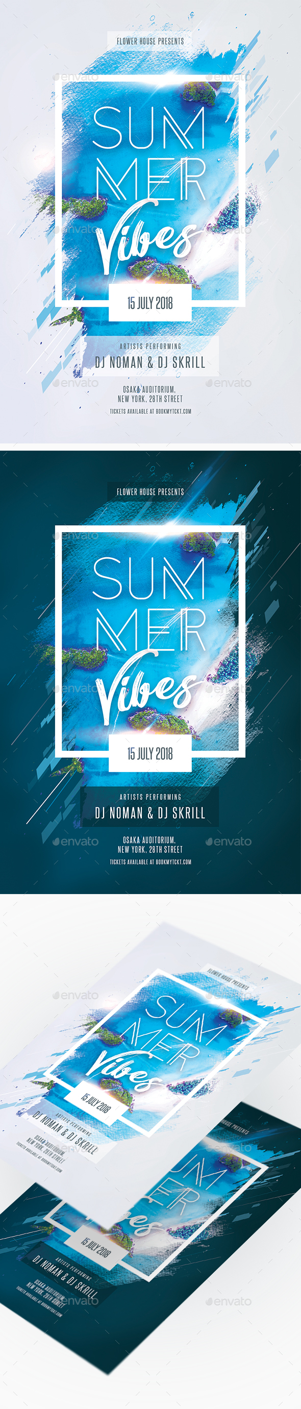 Summer Vibes Creative Party Flyer - Clubs & Parties Events