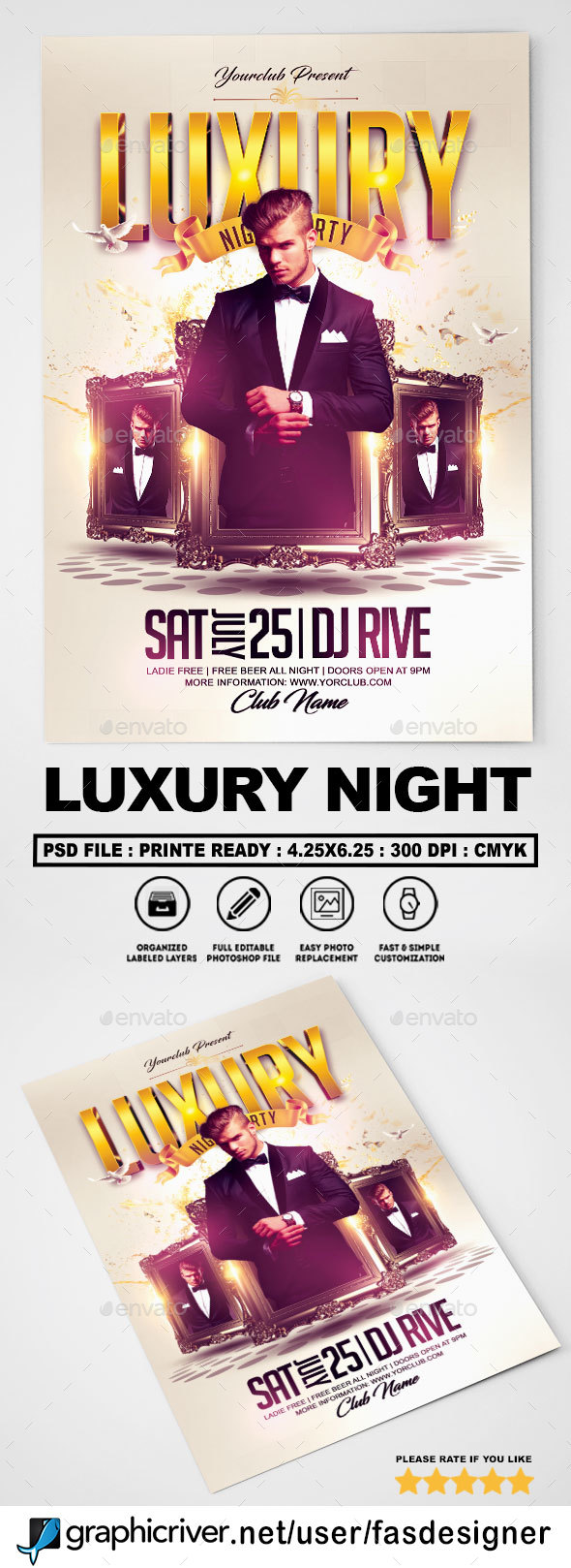 Luxury Night Flyer v3 - Clubs & Parties Events