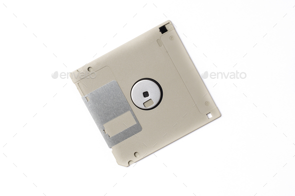 Gray floppy disk - Stock Photo - Images